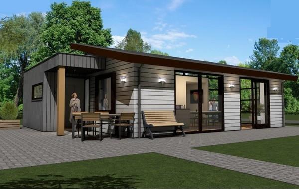 Model eco sun nieuw starline mobiele bungalows en chalets for Mobiele chalet te koop
